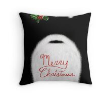 Santa's Beard - Christmas Card Throw Pillow