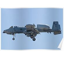 FT AF 78-0597 A-10 Thunderbolt II On Approach Poster