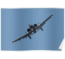 FT AF 78-0597 A-10 Thunderbolt II Head On Poster