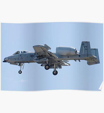 FT AF 79-0189 A-10 Thunderbolt II Approach Poster