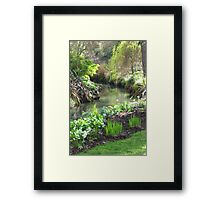 A Green & Peaceful Place Framed Print