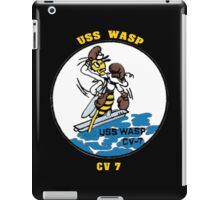 USS Wasp (CV-7) Crest for Dark Colors iPad Case/Skin