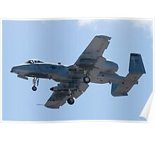 OT AF 79-0171 A-10 Thunderbolt II On Approach  Poster