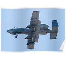 OT AF 80-0242 A-10 Thunderbolt II On Approach Poster