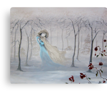 Softly, Gently Comes the Snow Canvas Print