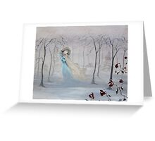 Softly, Gently Comes the Snow Greeting Card