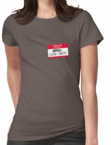 Hello my name is John Smith Womens Fitted T-Shirt