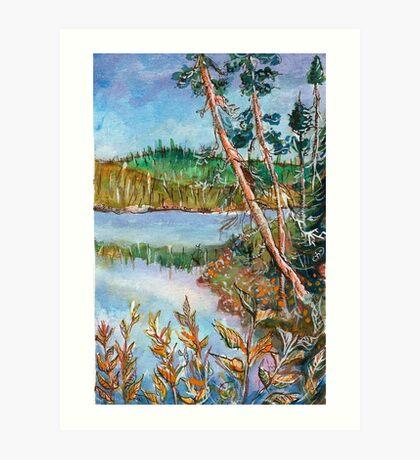 Landscape in the Northern Quebec Art Print