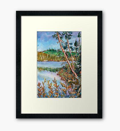 Landscape in the Northern Quebec Framed Print