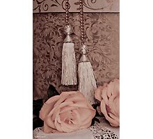 Tassels, Roses, Lace And Hat Box Photographic Print