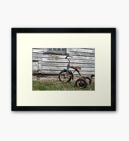 Rusty Trike Framed Print