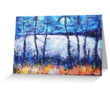 Moon over the Fields Greeting Card