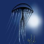 Jellyfish in Silhouette iPhone case by Ray Cassel