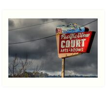Pacific View Court Motel Art Print