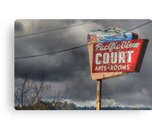 Pacific View Court Motel Metal Print