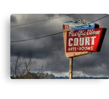 Pacific View Court Motel Canvas Print