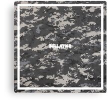 Bellatxr (Grey Scale Camo) Canvas Print