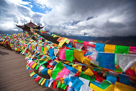 Prayer Flags by Ray Mosteller