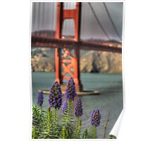 Flowers at the Golden Gate Poster