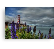 Golden Gate Flowers Canvas Print