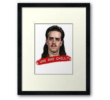 Vhs And Chill? Framed Print
