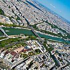 Flying over Paris by tazbert