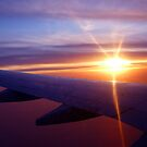 Sunset over the wing. by dgscotland