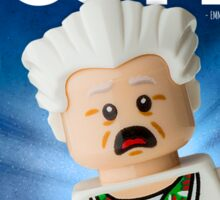 Lego Doc Brown Back To The Future Sticker