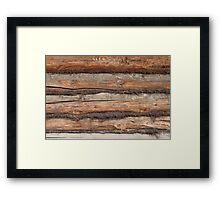 wall of the old logs caulking hemp Framed Print