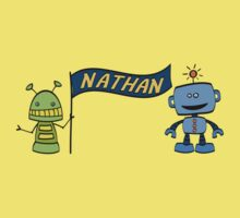 nathan w robots One Piece - Short Sleeve