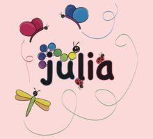 julia w bugs Kids Tee