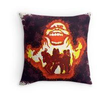 Pumpkin carving Ghost Busters Throw Pillow
