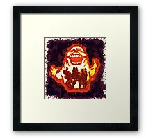 Pumpkin carving Ghost Busters Framed Print