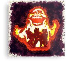 Pumpkin carving Ghost Busters Metal Print