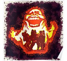 Pumpkin carving Ghost Busters Poster