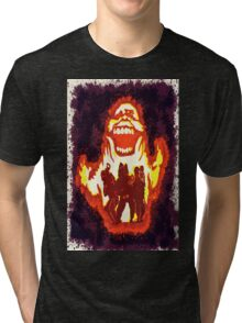 Pumpkin carving Ghost Busters Tri-blend T-Shirt