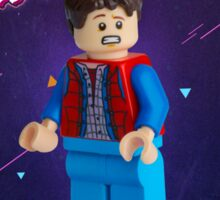 Back To The Future  Lego Marty Mcfly Sticker