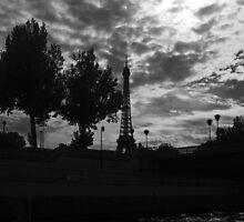 Eiffel Tower from the Seine by Paul Gilbert