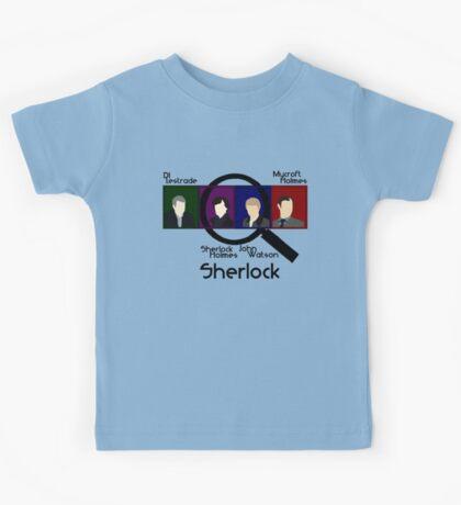 BBC Sherlock Squares Kids Tee