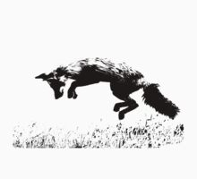 pouncing fox in the meadow Kids Tee