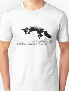 pouncing fox in the meadow Unisex T-Shirt