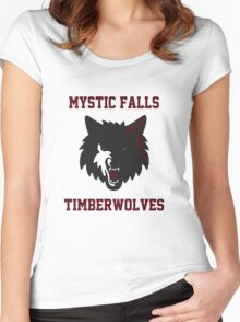 Mystic Falls Timberwolves Women's Fitted Scoop T-Shirt