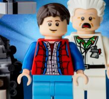 Lego Back To The Future -  Marty McFly Sticker