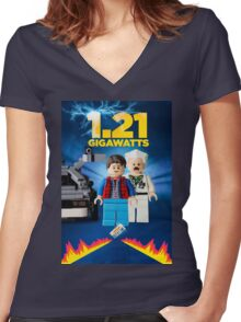 Lego Back To The Future -  Marty McFly Women's Fitted V-Neck T-Shirt