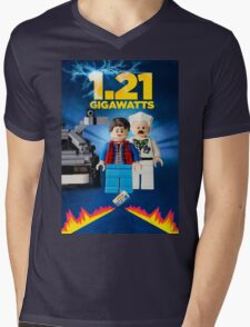 Lego Back To The Future -  Marty McFly Mens V-Neck T-Shirt