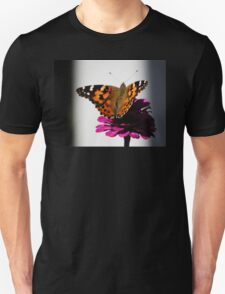 Painted Lady on Flower T-Shirt