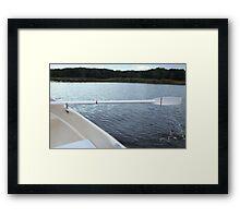 Oar rowing boat Framed Print