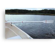 Oar rowing boat Canvas Print
