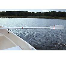 Oar rowing boat Photographic Print