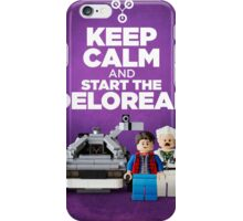 Keep Calm and start the delorean iPhone Case/Skin
